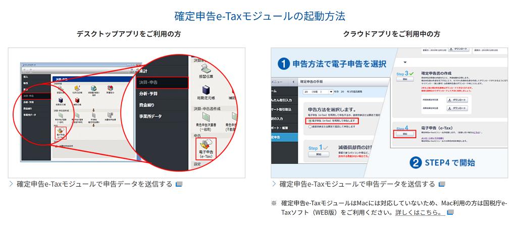 e-taxモジュール使い方